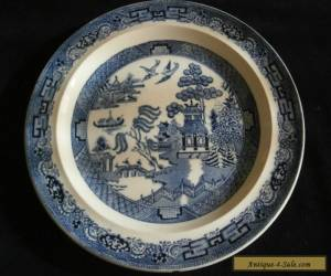 Willow Plate Blue and White  for Sale