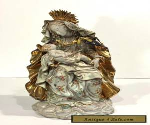 Prof. EUGENIO PATTARINO Italian Porcelain Sculpture MADONNA WITH CHILD for Sale