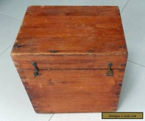 vintage wooden box marked G.P.O. for Sale