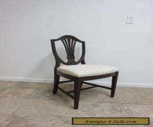 Antique Solid Mahogany Shield Back Dining Room Side Desk Chair for Sale