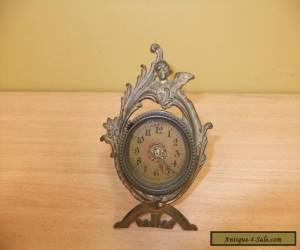 Vintage Brass Clock The Western Clock Mfg Co. La Salle, Illinois, USA for Sale