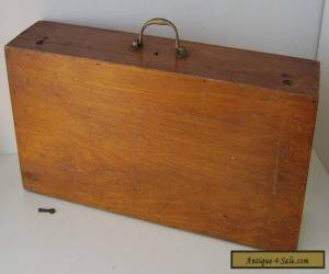 WOODEN CASE VINTAGE BOX + KEY  S.MAW & SONS for Sale