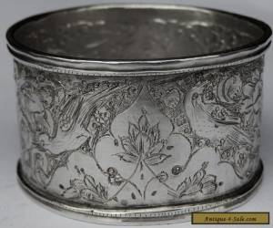 Beautiful Antique Persian Islamic Solid Silver hand chased Napkin Ring for Sale