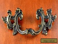 VINTAGE K-645 FRENCH PROVENCIAL Furniture Pulls KEELER BRASS C-C 3 1/2""