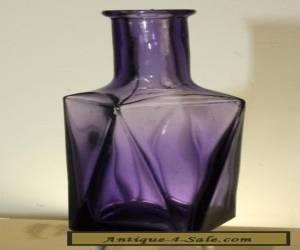 ANTIQUE FANCY PURPLE  PERFUME BOTTLE 5 1/2'' for Sale