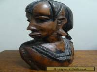 vintage African abstract Bust of Woman