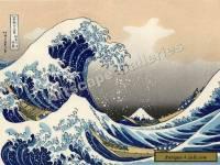 The Great Wave - Hokusai - Japanese Art Print - 17x24