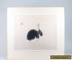 """Seiho Takeuchi (Japan 1864-1942) Watercolor and Gouache - """"The Rabbit"""" for Sale"""