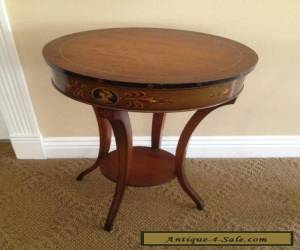 Vintage Federal Style Wood Mahogany  Lamp Side Table  Unusual Very Cool !! for Sale