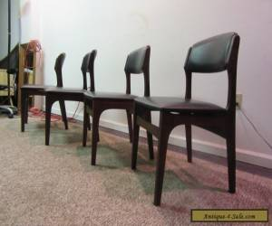 SET OF 4 MID CENTURY DANISH MODERN  WALNUT VOLTHER STYLE DINING CHAIRS for Sale