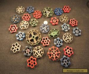 30 Vintage Valve Handles Water Faucet Knobs STEAMPUNK Industrial Arts Crafts #B for Sale