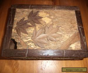 antique carved Chinese wooden puzzle box  for Sale
