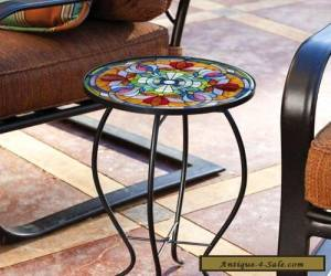 Glass Side Table Antique Vintage Style for Sale