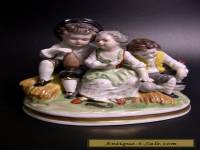 "RARE VTG ROYAL MUNCHEN GERMANY ""PEASANT CHILDREN"" PORCELAIN SCULPTURE FIGURINE"