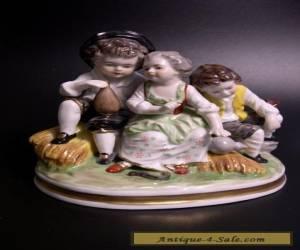 "RARE VTG ROYAL MUNCHEN GERMANY ""PEASANT CHILDREN"" PORCELAIN SCULPTURE FIGURINE  for Sale"