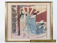 Utagawa Kunisada (1786-1865) Antique Japanese Woodblock