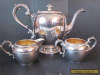 Vtg Reed & Barton EPNS Silverplate Tea Coffee Set Lidded Pot w Sugar Creamer USA