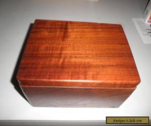 Antique Vintage Beautiful Wood Hinged Box Fabric Lined for Sale