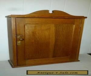 Antique Carved Wood Oak Wall Hanging Medicine Cabinet  for Sale