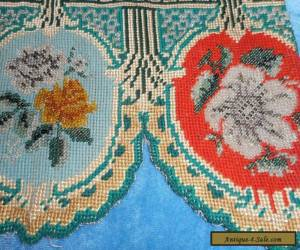 Antique beaded and embroidered pelmet for Sale