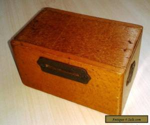 Charming Vintage Wooden Money Box. for Sale