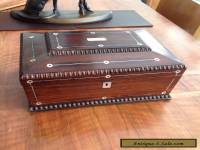 Beautiful Large Victorian Jewellery/ Sewing Box With Good Interior