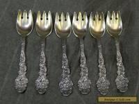 6 Gorham STERLING SILVER Versailles pattern ICE CREAM FORKS