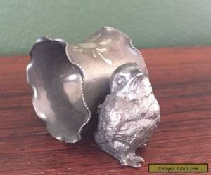 Victorian Silverplate Figural Napkin Ring with Baby Chick for Sale