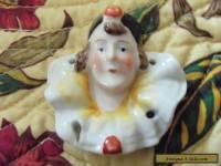 Porcelain Half Doll Head VTG Antique Germany Art Deco Nouveau