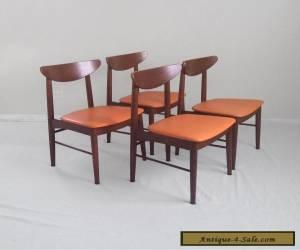 4 DANISH modern mid century walnut side chairs Stanley Furniture 60s mod mcm vtg for Sale