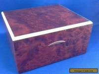 Art Deco wooden cigarette box