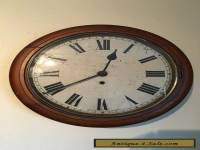 ANTIQUE ENGLISH SCHOOL / RAILWAY CLOCK Circa 1900