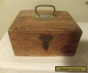 Antique Hand Made Primitive Wooden Box Rustic Storage Box  for Sale
