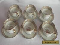 "Set of 6 Cup and Saucers Noritake ""Claire""s"