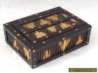 EDWARDIAN PORCUPINE QUILL BOX