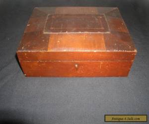 Old Vintage Antique Wood Wooden Sewing Jewelry or Document Box  for Sale