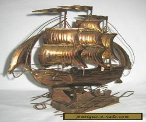 Musical Motion Animated Galleon Ship Vintage 1970's for Sale