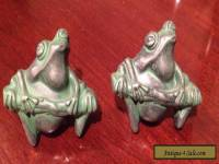 Solid Metal Frog Drawer Handles/Pulls SET of TWO