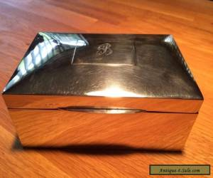 Sterling silver box 1930's for Sale