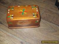 WOODEN BOX VINTAGE INLAID HANDMADE TRINKET