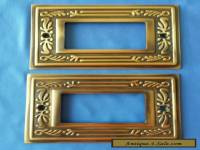 2 Switch Plate Cover Solid Brass