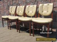 Vintage 1973  Mid Century Danish Modern Dining Table Chairs ~ Rosewood Teak?