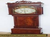 Amazing 19THC Antique Scottish Longcase Grandfather Clock 8 day Painted Dial