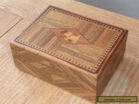 VINTAGE INLAID WOODEN JEWELLERY / TRINKET BOX WITH SCOTTY DOGS