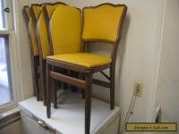 Lot of 4 Vintage Solid Wood Stakmore Folding Portable Chairs