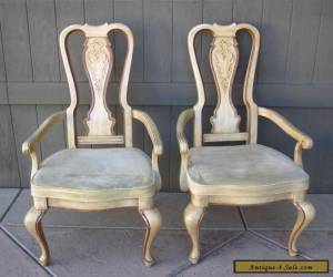 Pair of Georgian Style Tall Back Arm CHAIRS for Sale