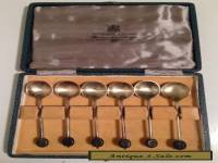 Sheffield Harrison Bros & Housen Silver Teaspoons & Box