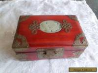Wooden  box with brass decorations