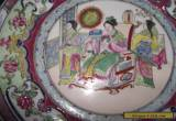 Chinese Porcelain Famile Rose Medallion Plate with Noble Lady & Court for Sale