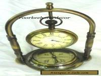 Antique Finish Brass Desktop/Table Top Clock